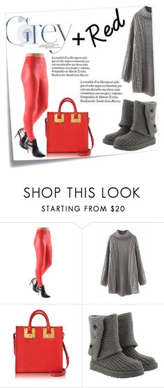 38c188e734e6 Grey + Red by sweatinstyle on Polyvore featuring UGG