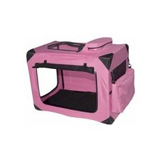 Pet Gear Generation II Deluxe Portable Home Outdoor Soft Pet Safety Crate - Small / Pink