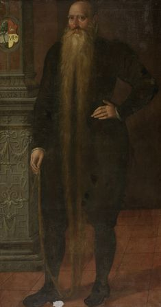Portrait of Pieter Dircksz, called Long Beard, Council Member of the Orphan Chamber in Edam, Aert Pietersz. (attributed to), 1583 - Rijksmuseum 16th Century Fashion, Classic Artwork, Long Beards, Renaissance Men, Virtual Museum, Poster Prints, Art Prints, Dutch Artists, Harry Potter Poster