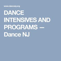 Dance Intensives And Programs