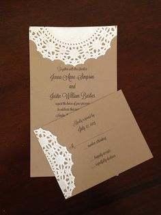 Yours Truly: DIY Wedding Invitations will go with my burlap and lace theme...