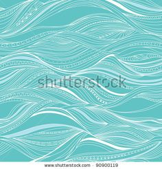 vector seamless abstract pattern, waves by Maria_Galybina, via Shutterstock
