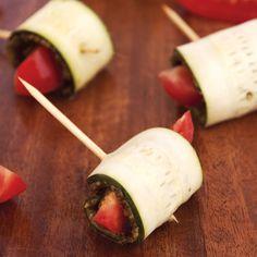 Raw Zucchini Roll Ups with Presto Pesto Recipe