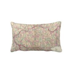 Vintage Map of Illinois (1874) Throw Pillow from Zazzle.com $52.00