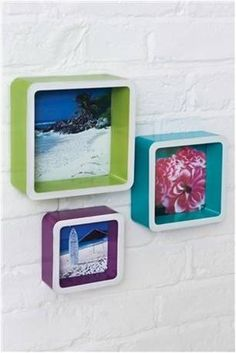 Smart and trendy wall box shelves.