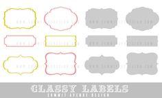 CLASSY designer LABELS digital Clip Art -  frame shapes for photography, scrapbooking & logos. $5.00, via Etsy.
