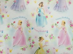 Happy Birthday Kids! This is a full sheet measuring approx 20.75 inches x 28.75 inches.  Has original fold creases. Excellent Condition -