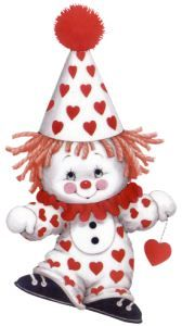 Images Ruth Morehead - Page 4 Clown Mignon, Clown Crafts, Clown Party, Greeting Card Companies, Cute Clown, Valentine Images, Valentines, Drawing Clipart, Happy Birthday Messages