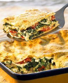 Veggie Lasagne...from Weight Watchers! #vegetarian Healthy Vegetable Lasagna, Lasagna Recipe Vegetarian, Veggie Lasagna, Vegetarian Meals, Lasagna Recipes, Ww Recipes, Light Recipes, Skinny Recipes, Drink Recipes