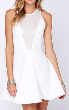 Cameo Another Day Ivory Mesh Dress