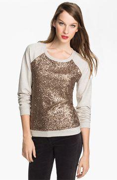 glittery sequined sweatshirt