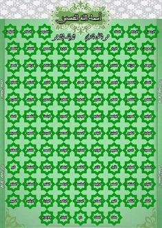 أسماء الله الحسنى Periodic Table Diagram