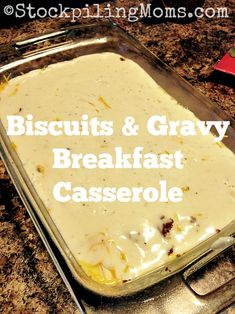 Biscuits & Gravy Breakfast Casserole recipe is out of this world, mouth watering goodness! Perfect for Thanksgiving or Christmas morning for the family!