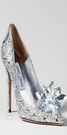 Jimmy Choo ~ Cinderella Glass Slipper Interpretation, 2015