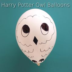 Draw owls on balloons for your very own Hedwigs!
