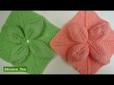 Cómo tejer una cobija o cubrecama con diseño geométrico en palitos o dos agujas - YouTube