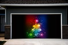 christmas garage door covers 3d banners outside house decorations billboard gd53