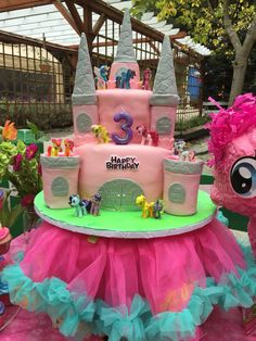 My little pony castle cake  (creation by Sugar&Share, Half Moon Bay)