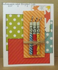 Candle made from money, candle card, birthday card