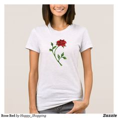 Rose Red T-Shirt Flower Patterns, Flower Designs, Different Flowers, American Apparel, Happy Shopping, Red Roses, T Shirts For Women, Pretty, Mens Tops