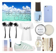 """All Becomes Clear"" by ameliekaced on Polyvore featuring Herbivore, adidas, Jessica Carlyle, Dot & Bo and Sephora Collection"