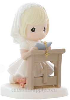 precious moments images clipart Precious Moments First Communion Figurines First Communion Cakes, Première Communion, First Communion Dresses, First Holy Communion, Confirmation Cakes, Precious Moments Figurines, Cold Porcelain, In This Moment, Cake Toppers