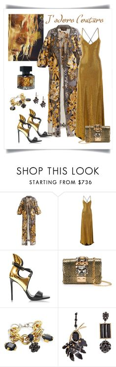"""""""Biyan Floral Embroidered Fil-Coupé Coat Look"""" by romaboots-1 ❤ liked on Polyvore featuring Biyan, Faith Connexion, Balmain, GEDEBE, Marni and INC International Concepts"""