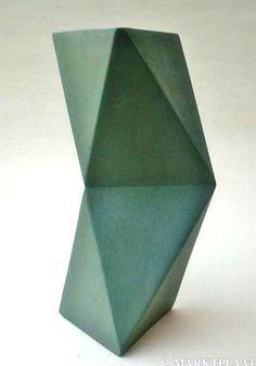 Geometrisch Architectuur Design Vaas Studio Keramiek