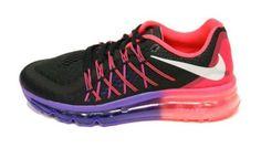 $269.77 - Womens Nike Air Max 2015 Running Shoes - Black/White/Hyper Punch/Hyper Grape (8.5) #shoes #nike #running #athletic #women #departments #men #2014