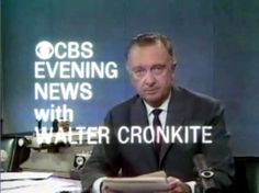 "Walter Cronkite - ""The most trusted man in America"" and ""that's the way it is"".....from the 1960's"