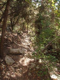 Hiking Trail in Steiner Ranch, Austin, TX.