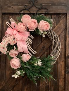 Enchanting Spring Door Wreath Ideas For Home Decoration 14 Spring Door Wreaths, Easter Wreaths, Summer Wreath, Wreaths For Front Door, Christmas Wreaths, Front Porch, Willow Wreath, Lighted Wreaths, Corona Floral