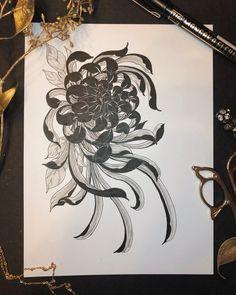 Flower Tattoo Drawings, Flower Tattoos, Japan Tattoo Design, Filigree Tattoo, Skin Drawing, Cloud Tattoo, Theme Tattoo, Oriental Tattoo, Body Tattoos