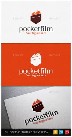 Pocket Film Logo suitable for film industry logo, video production, short film production, professional film, business and product