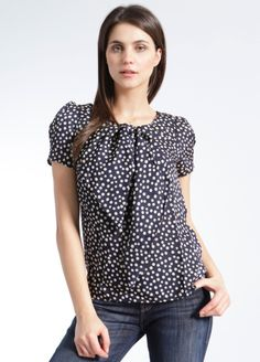 Erina Asymmetric Bow Top - Brooklyn Industries