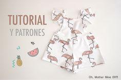 DIY Costura y patrones mono de flamencos (ropa para niños)