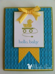 Stampin' Up! Baby Card  by Marla Reed at Marla's Stampin' Spot: Hello, Babies!