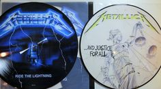 Online veilinghuis Catawiki: Metallica - ...and Justice For All & Ride The Lightning: Great lot of 2 PICTURE DISCS of which one in gimmick sleeve