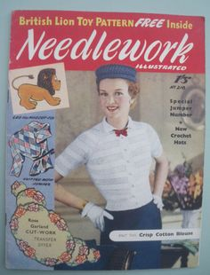 Vintage Knitting Sewing Crochet Magazine 1950s by sewmuchfrippery