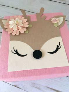 Items similar to Woodland Animals Baby Shower, Deer Baby Album, Exploding Photo Box, Woodland Party, Deer Gift / Decoration on Etsy Large Paper Flowers, Paper Roses, Woodland Baby, Woodland Animals, Woodland Theme, Polka Dot Paper, Pink Cards, Baby Deer, Baby Shower Decorations