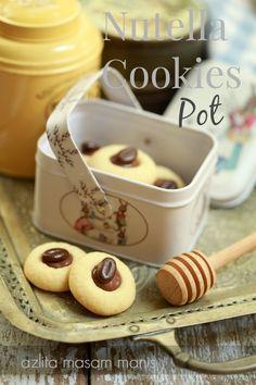 Nutella Cookies Pot yang meletup! letup! - masam manis