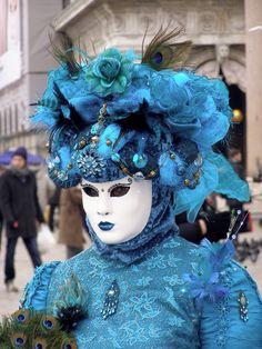 Blue Rose.  Venice Carnival 2013 by Lesley McGibbon