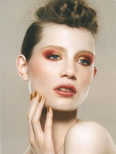 Red and Gold  May 8th, 2012  Gorgeous beauty looks on Model Bec D from Pride Models.