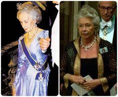 Princesses Lilian and Christina in the cut steel tiara