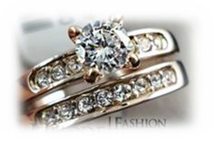 'Brilliant Italina Rigant brand double Wedding Rings' is going up for auction at  7am Tue, Jun 4 with a starting bid of $5.