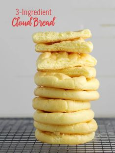Cloud Bread: The Latest Gluten-Free Trend Low Sugar Recipes, Clean Recipes, Diabetic Recipes, Gluten Free Recipes, Keto Recipes, Snack Recipes, Dinner Recipes, Cooking Recipes, Low Carb Bread