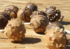 Peanut butter and chocolate cake pops
