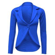 Exkluzívne Dámske Modré Sako Office Wear, Wetsuit, The Selection, Athletic, Blazer, Zip, Swimwear, How To Wear, Jackets