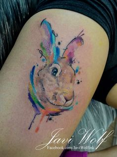 Watercolor rabbit Diseño y estilo propio!que tengan buen día amigos!-Agenda cerrada por el momento