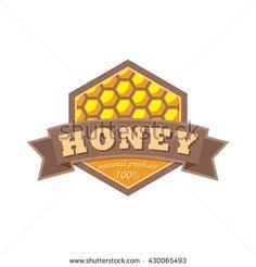 Beekeeper vector logo. Apiary flat badge. Natural honey products banner